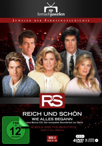 Reich und Schön - Box 4: Wie alles begann (Folge 76-100 + Soundtrack) (4 DVDs + CD)